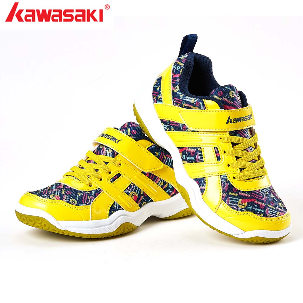 2019 Kawasaki Children Shoes Boys Sports Shoes Fashion Brand Casual Breathable Outdoor Kids Sneakers Boy Badminton