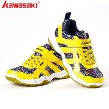 Kawasaki детская обувь для мальчиков спортивная обувь модная брендовая Повседневная дышащая уличная детская обувь кроссовки для мальчиков обувь для бадминтона KC-15
