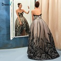 Dressv black vintage sweetheart ball gown evening dress lace sequins asymmetry formal party prom dress real photos evening dress