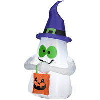 Customize 3m Giant Inflatable Ghost With Candy Tote With Led Light For Halloween Outdoor Decoration