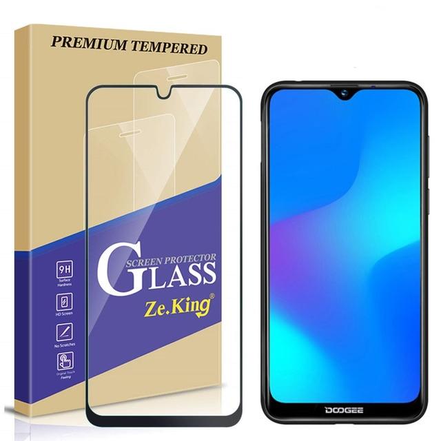 Cubierta completa de vidrio templado para Doogee Y8 Protector de pantalla película Premium para Doogee Y8 de vidrio templado de 6,1 pulgadas