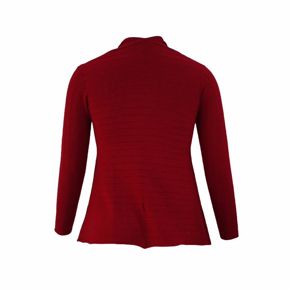 Red-Irregular-Hemline-Cowl-Neck-Sweater-LC27631-3-4