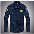 2016 brand men's spring Aeronautica militare camisa masculina Air Force One 1 t-shirt,mens long sleeve causal Embroidery t shirt