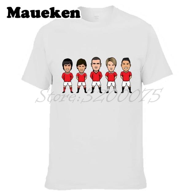 Men Legend NO.7 Eric Cantona Cristiano Ronaldo David Beckham Bryan Robson George Best T-shirt for fans gift o-neck tee W0313007