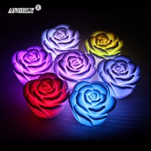 Colors Changing LED Night Light Decoration Wedding Lamp Nightlight Rose Shaped Desk Table Lights for Xmas Party Gift for Kids rose flower table lamp wedding decoration led night light heart shape luminaria bedside desk lamp for holiday christmas gift