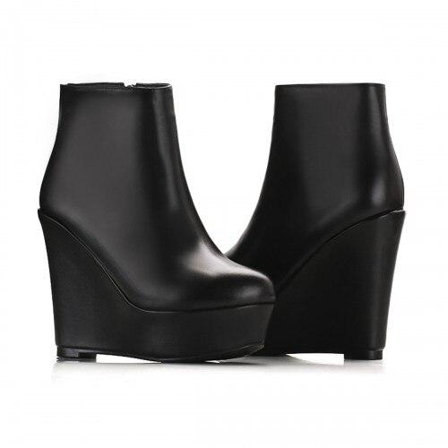 Popular Black Wedge Booties-Buy Cheap Black Wedge Booties lots ...