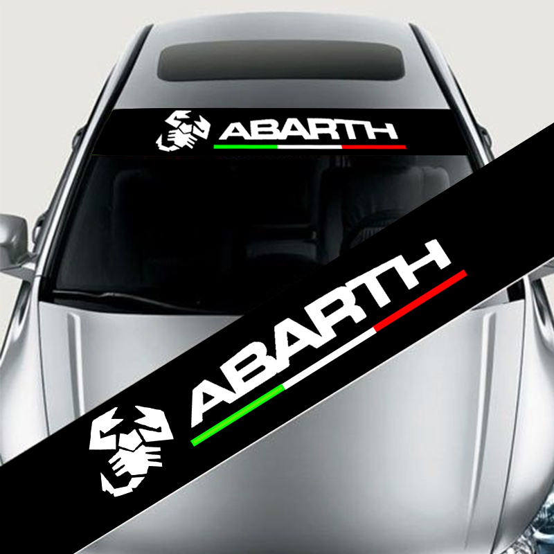 Reflective Front Windshield Banner Decal Car Sticker for ABARTH Auto Exterio abarth фиат ритмо запчасть