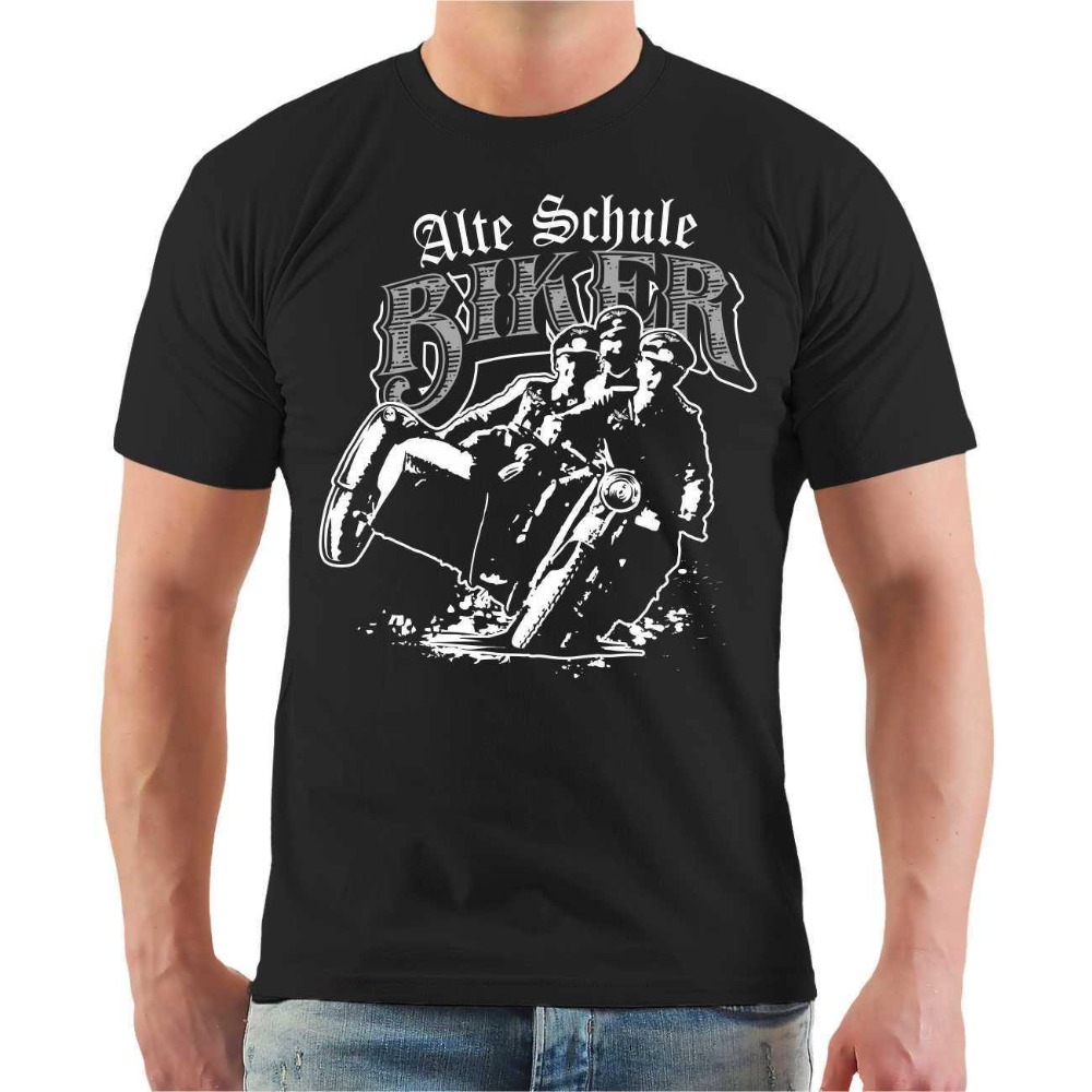2019 New Men Summer O-Neck Tops Old School Biker Motorcycle <font><b>Mc</b></font> Free German Sidecar Germany Design <font><b>T</b></font> <font><b>Shirt</b></font> s image