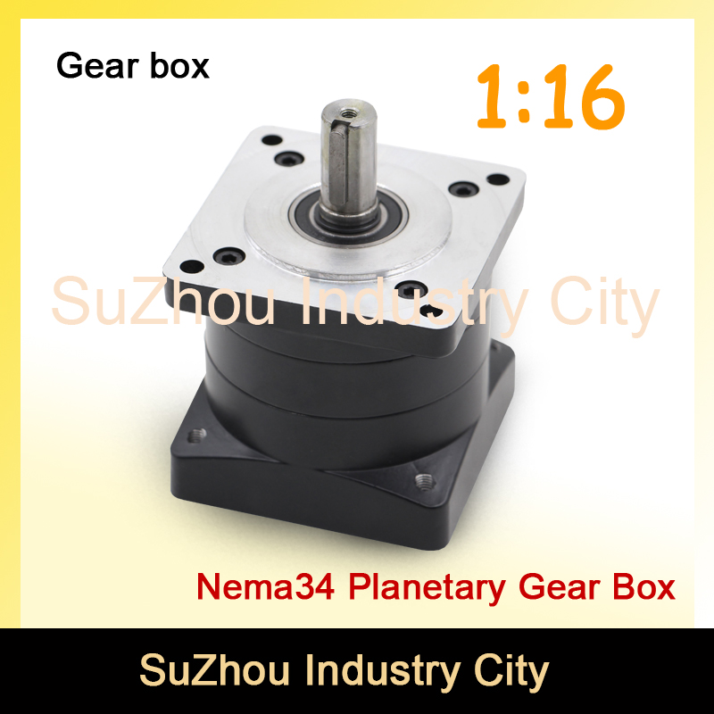 1:16 Nema34 stepper Motor Planetary Reduction Ratio 1:16 planet gearbox 86mm motor speed reducer, High Torque high quality !! цена и фото
