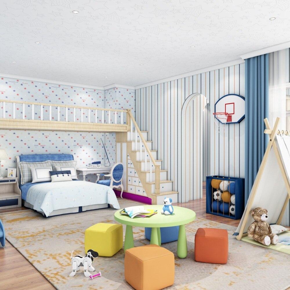 Decke Tapete Kinderzimmer Jungen Vliesstoffe 3D Wandbilder Stereo Stern  Dach Farbe Stern Anhänger Tapete In Decke Tapete Kinderzimmer Jungen  Vliesstoffe 3D ...