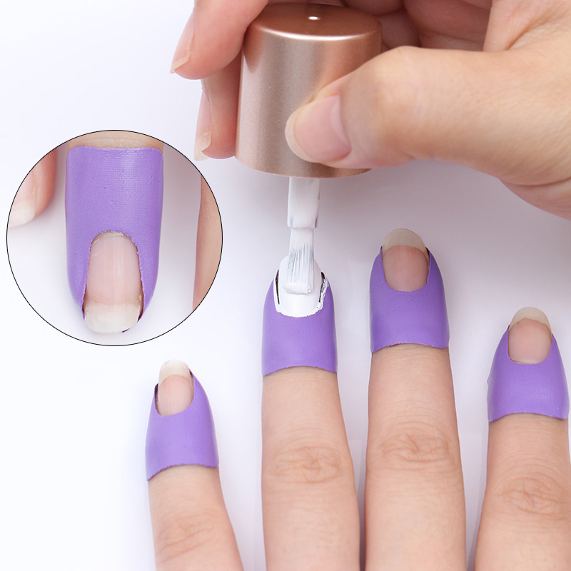 BORN PRETTY Peel Off Tape Spill-proof Nail Protector Black White Pink Creative U-shape Finger Cover Sticker Nail Polish