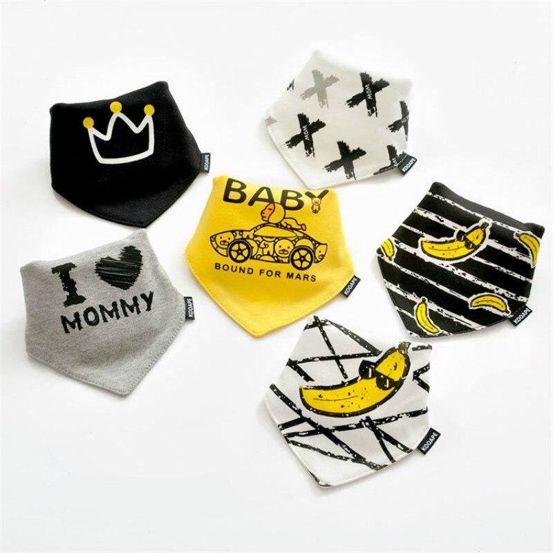 2 Pcs/lot Baby Bibs Bandana Hot Sale Cotton Double Layers Drool Bib Child Boys &Girls Triangle Bibs Bandana Infant Towel