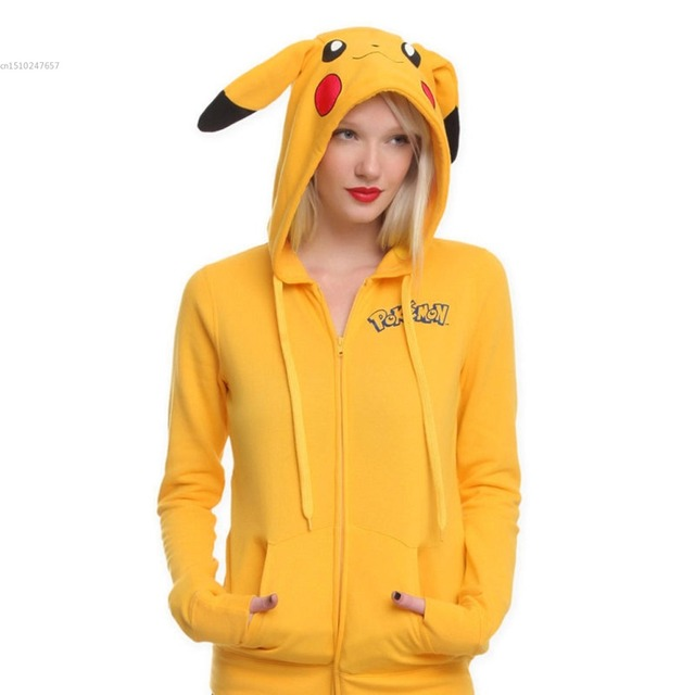 Pokemon Umbreon capuz fleece unicórnio Traje Pikachu ponto firedragon Animais Blusas panda