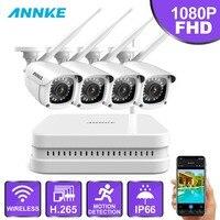 ANNKE 8CH FHD 1080 P WiFi видеонаблюдение NVR система с 2 мегапиксельной умной ИК пулей OutdoorWeatherproof ip камера 100ft ночного видения