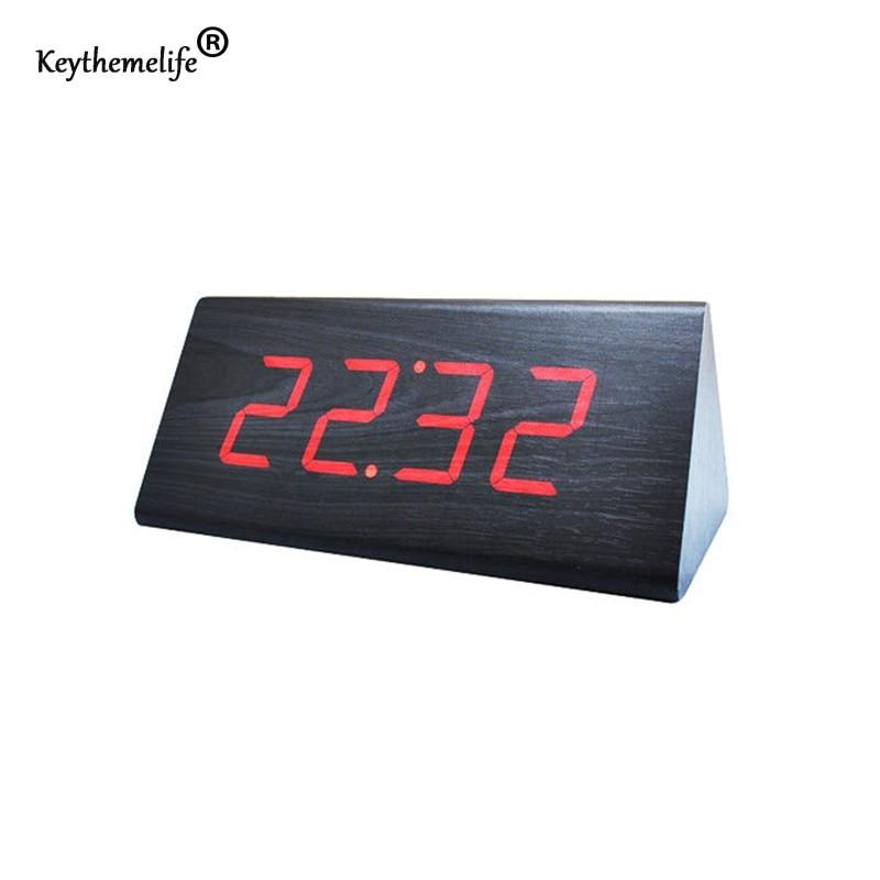 Keythemelife simple alarm clock temperature sounds control for Minimalist alarm clock