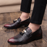 Man Shoes Classic Pointed Top Comfortable Sneaker Men Fashion Business Shoes Men Wine Red Mens Dress Shoes Fashion Sneakers