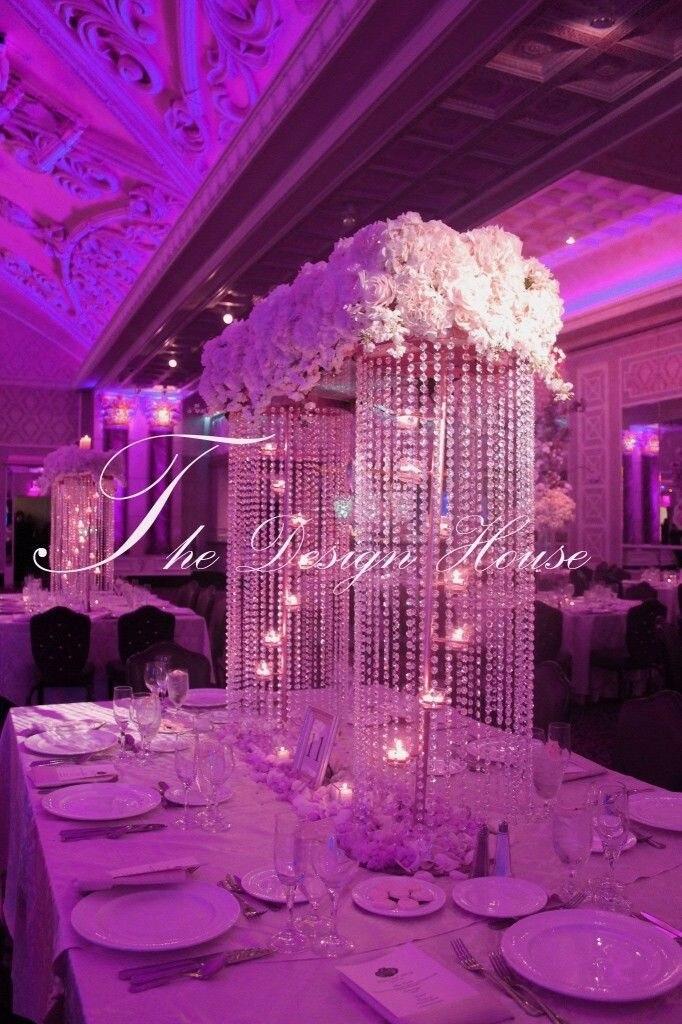 Free shipping 100cmh wedding crystal pillar crystal chandelier free shipping 100cmh wedding crystal pillar crystal chandelier wedding flower stand with candle holder party decoration aloadofball Images