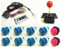 1 kit for Zero Delay Arcade  PC PS 2 PS 3 3IN 1 PC Encoder PC to Joystick Control panel For MAME with joystick and button