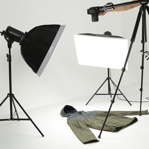 Image 5 - 900Ws Godox Strobe lampy błyskowej Studio zestaw 900 W oświetlenie fotograficzne Strobes, światła oznacza, wyzwalaczy, miękki pojemnik, ramię wysięgnika
