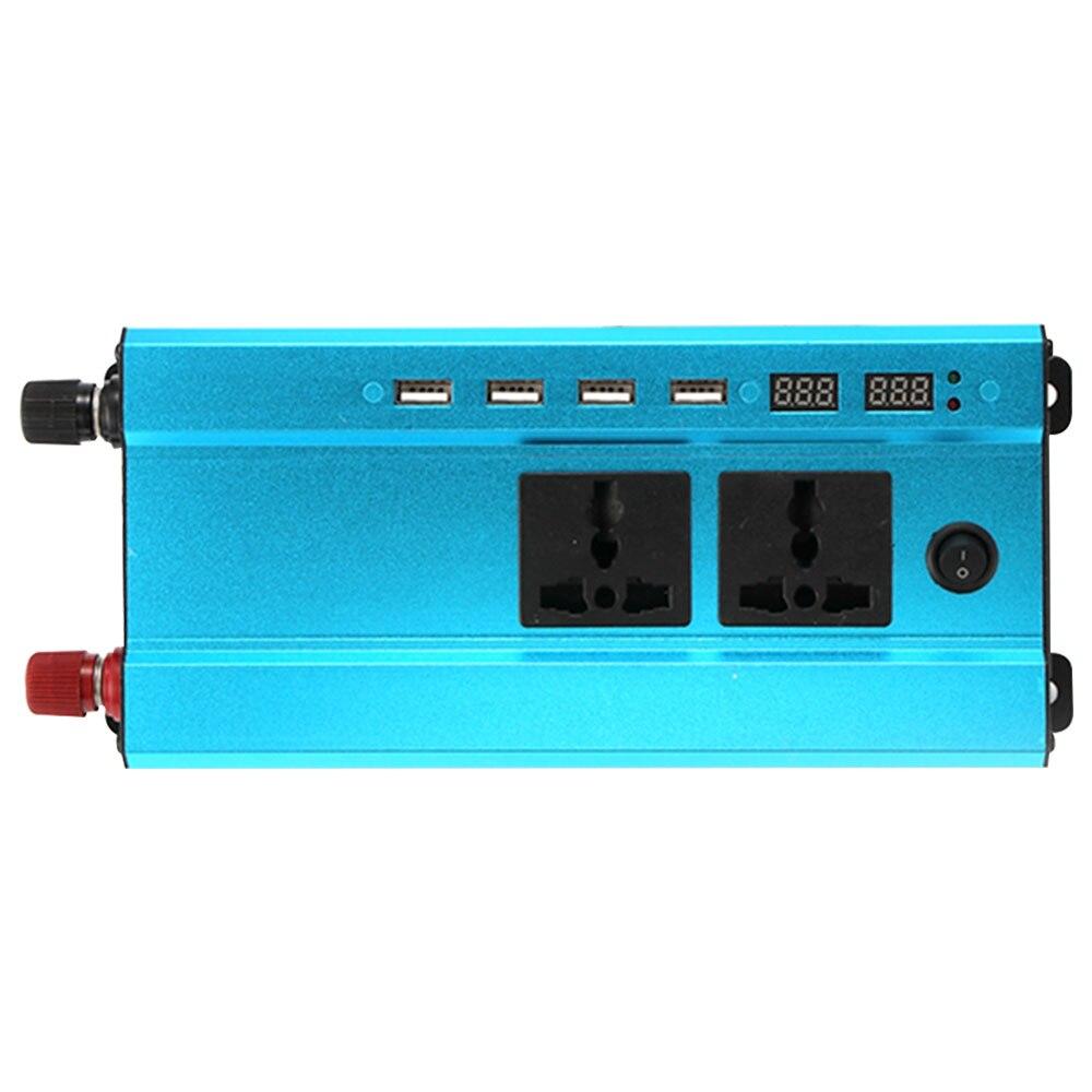 Vehemo конвертер 1200 Вт пик солнечной энергии инвертор Авто Инвертор алюминиевый сплав портативный адаптер Светодиодный автомобильное зарядное устройство, инвертор