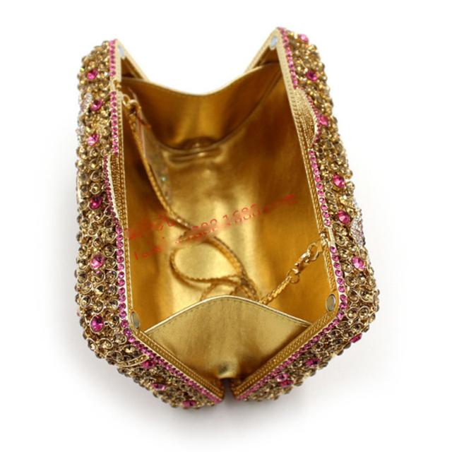 XIYUAN BRAND women 2017 new European and American Style  Crystal full diamond Birds Flowers Evening Bags female cross body bags