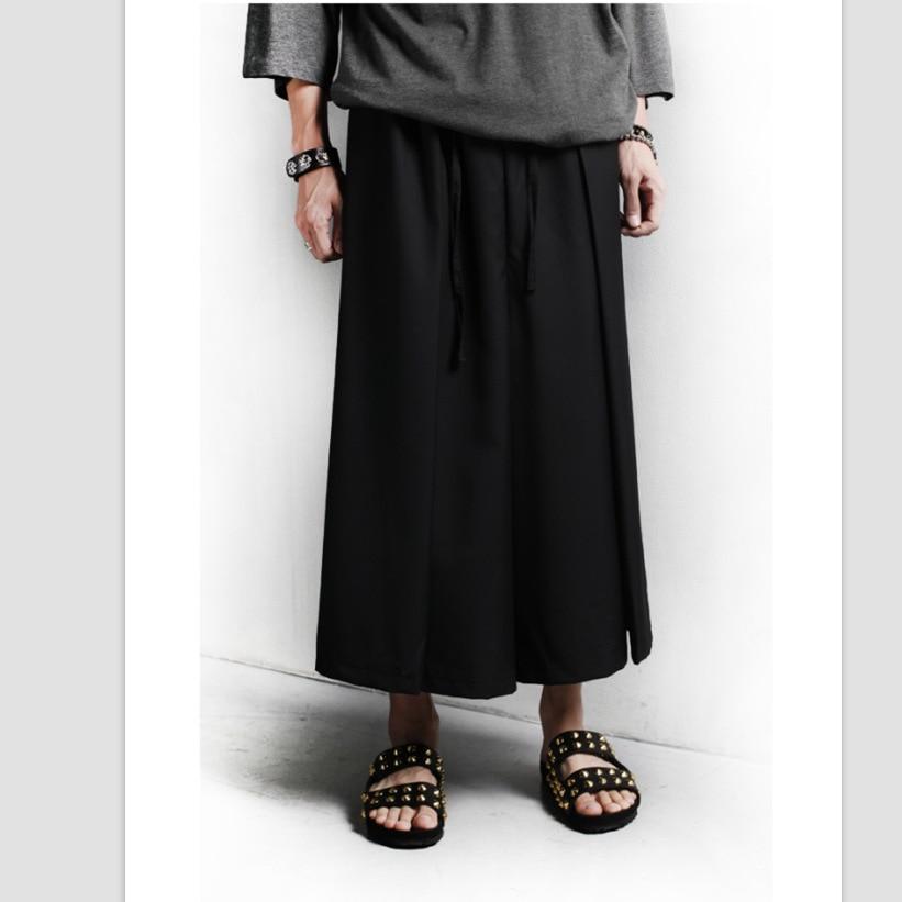 Hosen Hose Mit Weitem Bein Diszipliniert 27-44 Neue 2017 Herrenbekleidung Nicht-mainstream-losen Hosen Rock Frühjahr Und Sommer Persönlichkeit Mode Lässig Pluderhosen Kostüme