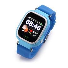 GPS Pantalla Táctil Reloj Inteligente Para Los Niños Colorido Niños SOS Del Perseguidor Posicionamiento WIFI Q90 Smartwatch para Android IOS Perdido Monitor