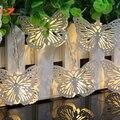 Белый металл бабочка освещения рыбы светодиодный белый свет строка фея Рождество свет сада домой весной фары AA батарейках
