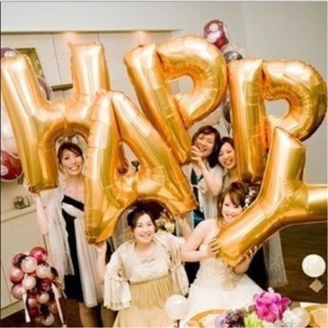 New arrival golden wedding balloons with 26 letter of the alphabet new arrival golden wedding balloons with 26 letter of the alphabet 35cm75cm90cm junglespirit Images