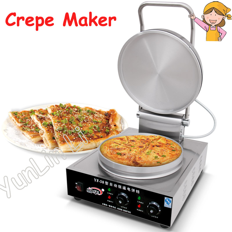 Commercial Crepe Maker Electric Pancake Machine Crepe Maker Commercial Electric Baking Pan Electric Pancake Making Machine free shipping crepe making machine electric crepe maker machine snack machine mini electric hot plate crepe pancake maker