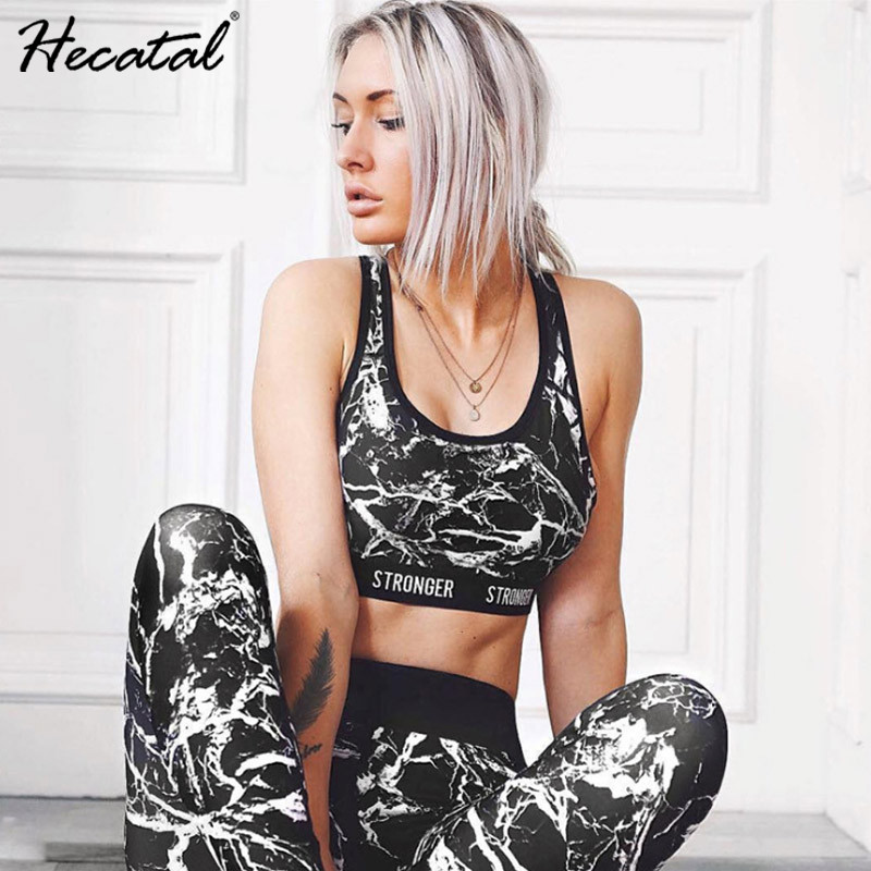 Printed Breathable Yoga Sets Sexy Women Sportswear Halter Bra & Leggings Tight Fitness Sports Suit Yoga Set Tracksuit for Women 1