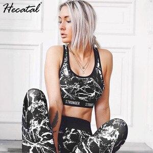 Image 2 - Drukowane oddychające zestawy do jogi seksowne kobiety odzież sportowa Halter biustonosz i legginsy mocno Fitness strój sportowy joga zestaw dres dla kobiet