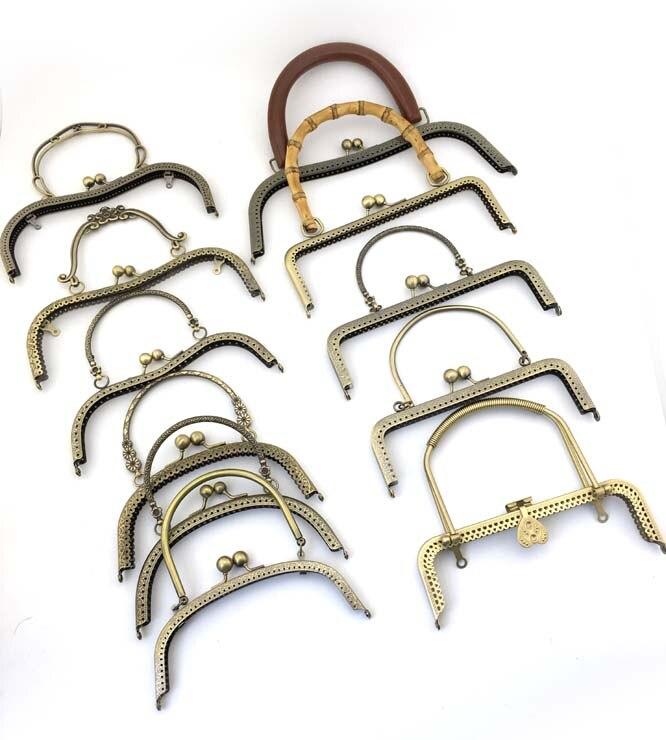 Наби DIY бронза серебряный золотой цвет металла кошелек рама застежкой для сумка рот золотой накатки