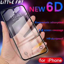 6D Full Curved Screen Protector For iphone XS XR XSMAX 7 7P 6p 6 9H Tempered glass For IPhone X 7 8Plus 6s 6sp Transparent Glass