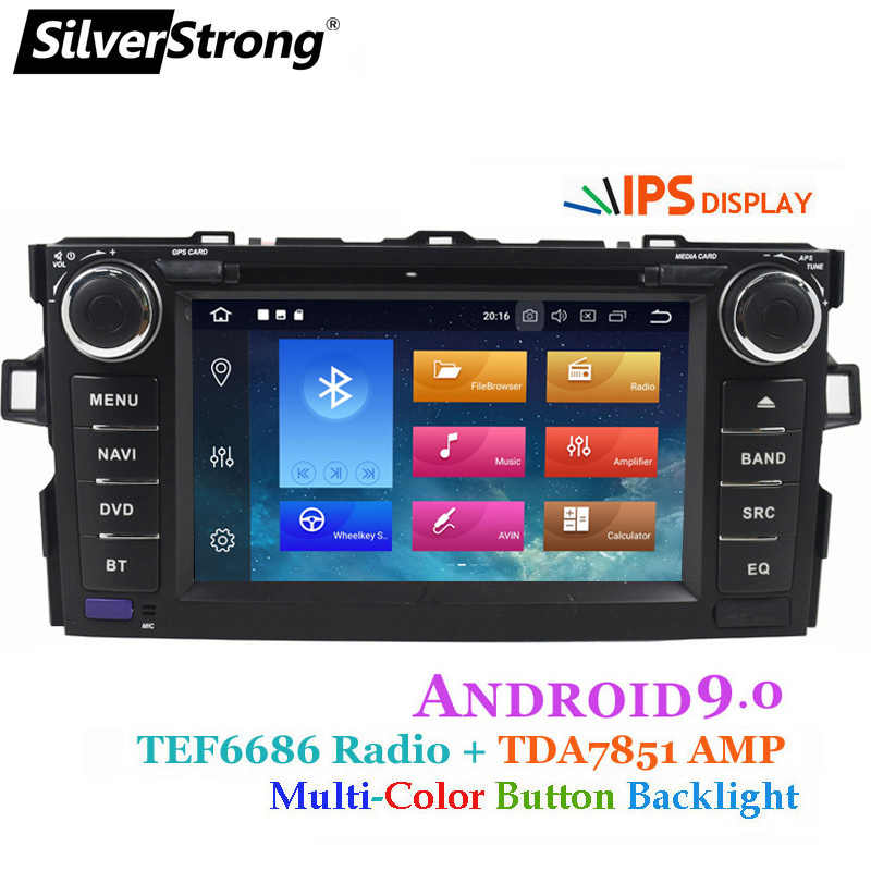 SilverStrong Android9.0 Car 2DIN for TOYOTA AURIS hatchback 2G+16G Car Radio GPS For Toyota Car DVD AURIS-8L