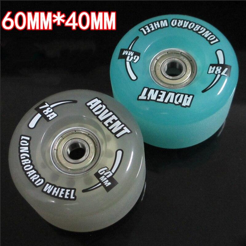 Free Shipping Long Board Wheel Skate Board Wheel 60x40 78A 4 Pcs / Lot