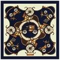 100% Bufanda de Seda Bufanda de Las Mujeres de la Marca Euro coche de Caballos Real Envoltura de seda Foulard de Seda Cuadrada Bufanda Caliente Mujer Pañuelo de Señora regalo