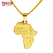 Africa map pendant necklace Women/Men girl 18k gold plated jewelry Fashion Pendant 2016 New Map Necklace Hiphop