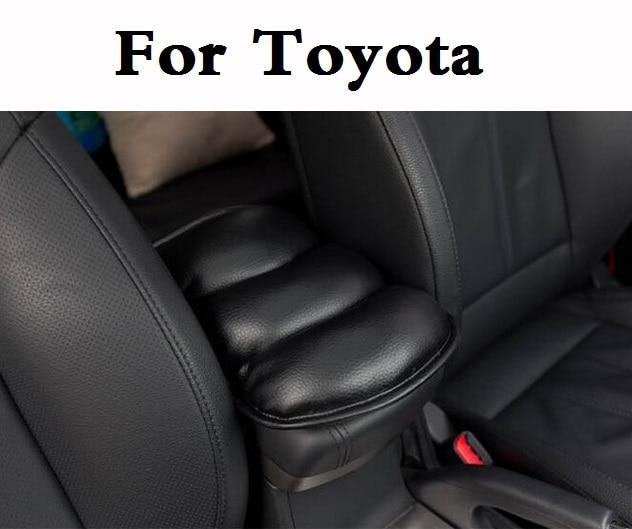 Car Vehicle Center Console Soft Mat Armrests Arm Rest Pad For Toyota Hilux Surf IQ Ist Kluger Land Cruiser Land Cruiser Prado