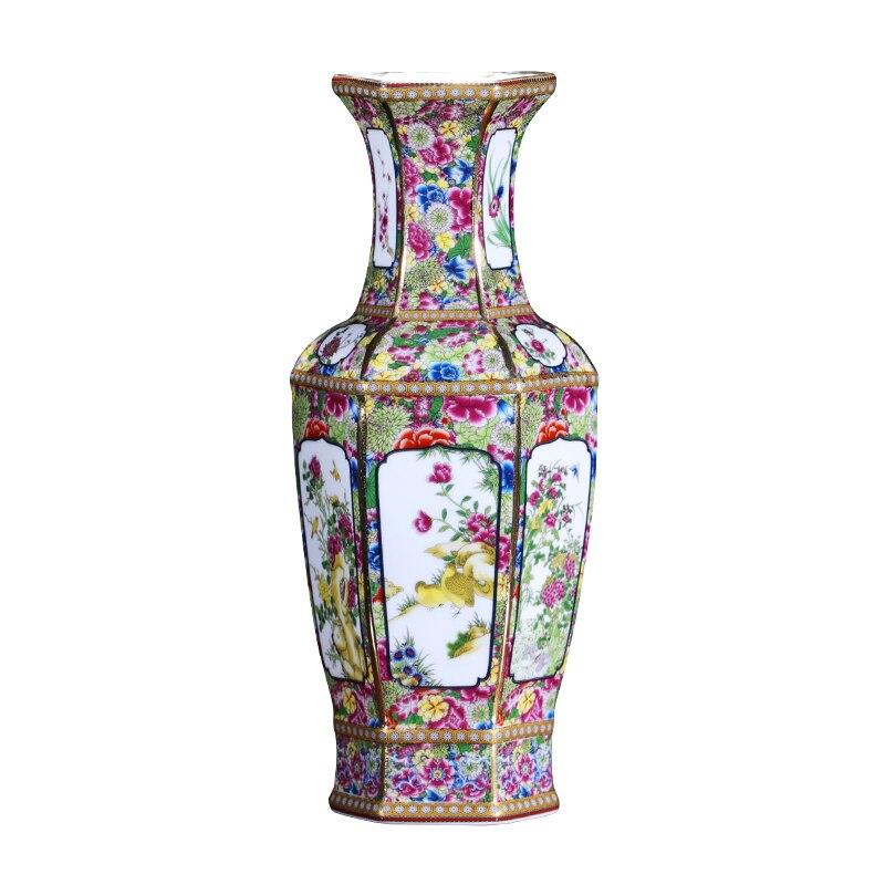 Jingdezhen antique handicrafts Qing Dynasty  qianlong enamel vase annual  vase antique collection ornamentsJingdezhen antique handicrafts Qing Dynasty  qianlong enamel vase annual  vase antique collection ornaments
