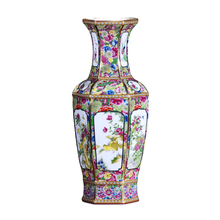 Jingdezhen antique handicrafts Qing Dynasty  qianlong enamel vase annual  vase antique collection ornaments