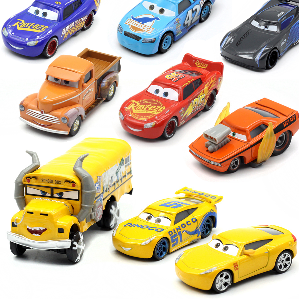 6 Style Disney Pixar Cars 3 Black Jackson Storm 1:55 Scale Diecast Metal Alloy Modle Cute Toys Car for Children Christmas Gifts