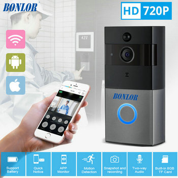 BONLOR Video Intercom Doorbell 720P HD Wifi Security Camera Real-Time Two-Way Talk and Night Version Smart Wireless Doorbell mool wi fi video smart doorbell with 2 ways audio and video sensor1280 x 720 field of view180 degree video hd 720p