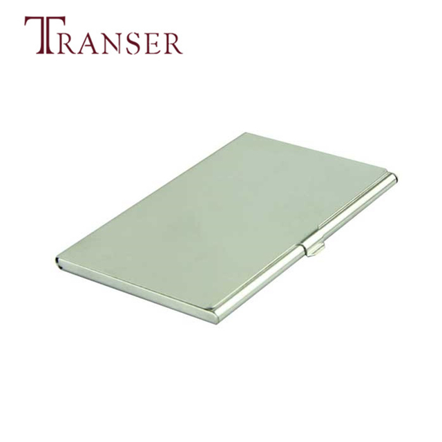 transer voberry silver business card holder metal business slim men simple high quality solid male coin - Silver Business Card Holder
