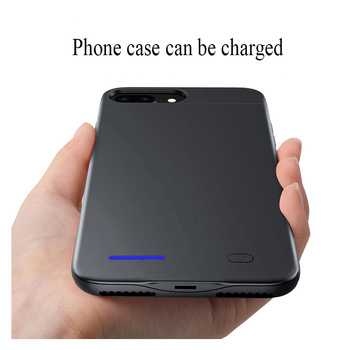 4200mah Back clip battery wireless fast charger phone cover for apple iphone 7 battery case 8 6 6s plus power bank part emoji protectores de cargador iphone