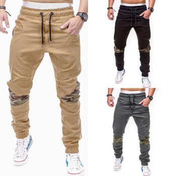 Fashion Men Casual Slim Fit Pencil Pants Straight-Leg Jeans Leisure Trousers B8
