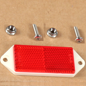 Image 4 - 6 PCS AOHEWE red rectangular reflector  with screw E C E Approval reflect strip for trailer truck lorry bus RV caravan bike