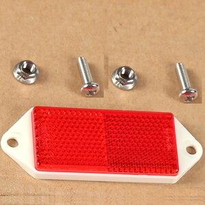 Image 4 - Reflector rectangular rojo de 6 piezas AOHEWE con tornillo de aprobación E C E reflectante para remolque camión RV caravana de bicicleta