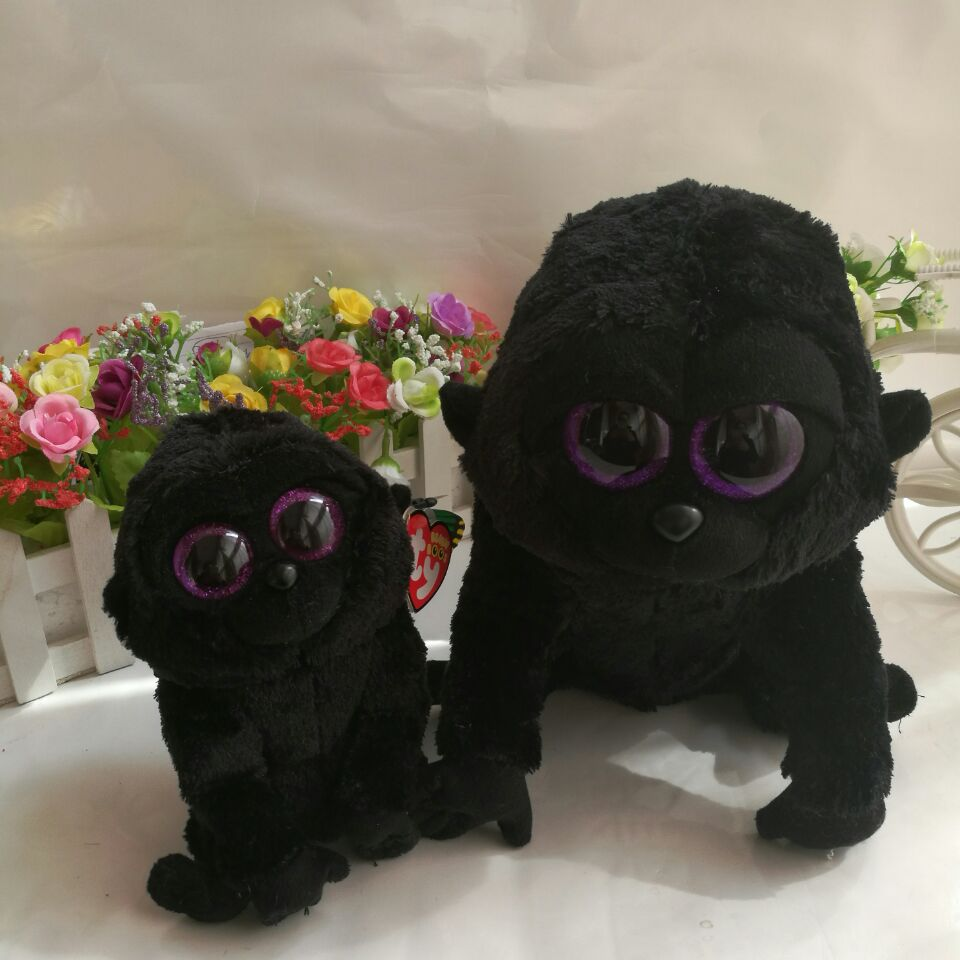 fa9756d3fde George gorilla chimpanzee 15CM 6  and 25cm In Stock Original Ty Beanie Boos  Big Eyed Stuffed Animal Toy Birthday Gift Plush Toy-in Stuffed   Plush  Animals ...