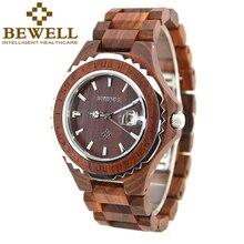 BEWELL Brand Wood Watch for Men Waterproof Zebra Wood Mens Watches Top Brand Luxury Wristwatch reloj de los hombres with Box